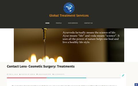 Screenshot of Blog gtsmeditour.com - Global Treatment Services Pvt. Ltd. - captured Feb. 10, 2016