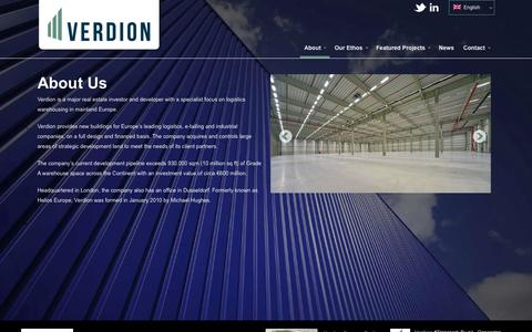 Screenshot of About Page verdion.com - About - Verdion - captured Oct. 26, 2014