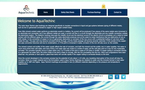 Screenshot of Home Page aquatechnicnw.com - aquatechnic - captured May 30, 2017
