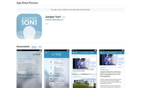 Juniper 1on1 on the AppStore