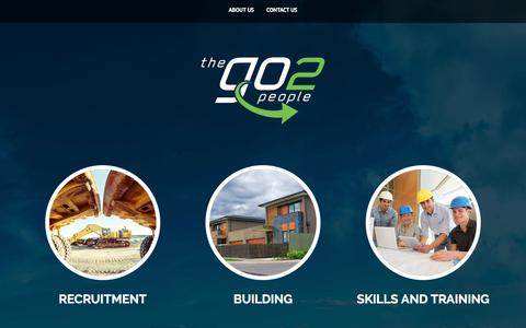 Screenshot of Home Page thego2people.com.au - The Go2 People, Delivering a Complete Range of Building, Recruitment and Training Solutions - captured July 11, 2017