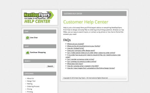 Next Day Flyers Help Center - Help Center where you can find all you need to know about Next Day printing.