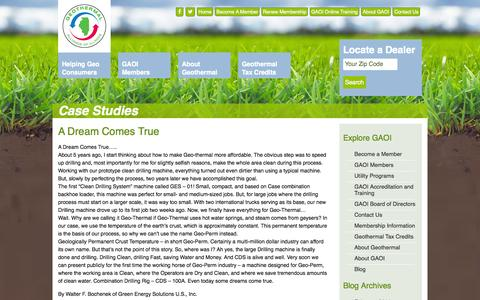 Screenshot of Case Studies Page gaoi.org - Case Studies | Geothermal Alliance of Illinois - captured Oct. 2, 2014
