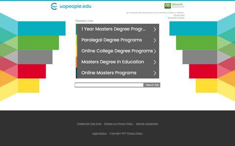 Screenshot of Landing Page uopeople.edu - uopeople.edu - captured July 25, 2017