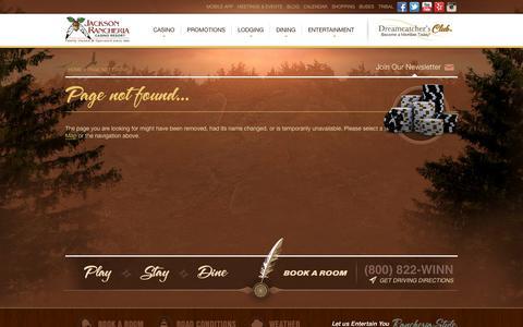 Screenshot of Blog jacksoncasino.com - Page not found... - captured Sept. 19, 2014