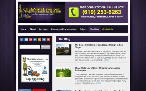 Screenshot of Blog chulavistalawn.com - The Blog | Chula Vista Lawn Care | Chula Vista Landscaping & Lawn Maintenance - captured Nov. 1, 2014