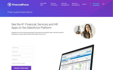 Request a free demonstration of FinancialForce applications
