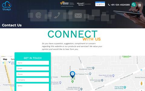 Screenshot of Contact Page bluepiit.com - Contact Us | Connect with BluePi | BluePi offices - captured Oct. 2, 2018