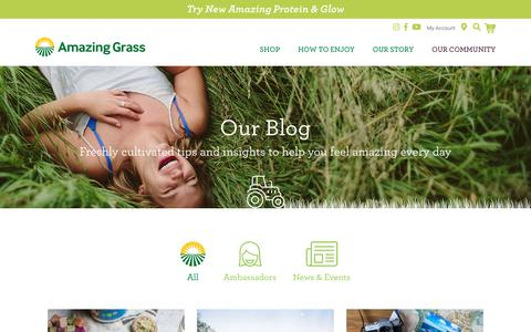 Screenshot of Blog amazinggrass.com - Blog - Amazing Grass - captured Dec. 9, 2018