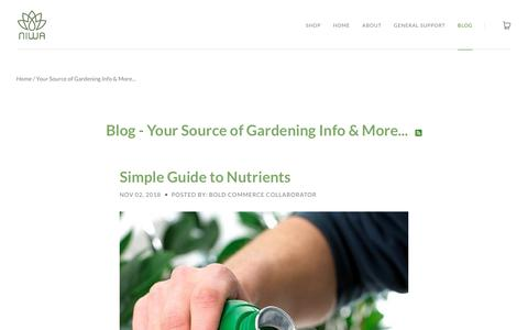 Screenshot of Press Page getniwa.com - Your Source of Gardening Info & More... | getniwa - captured Nov. 8, 2018