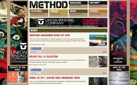 Screenshot of Press Page methodmag.com - NEWS | Methodmag.com - captured Oct. 27, 2014