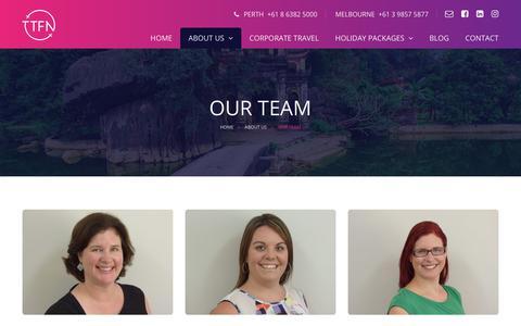 Screenshot of Team Page ttfn.com.au - Ta Ta For Now | Travel Management Team - captured Oct. 18, 2018