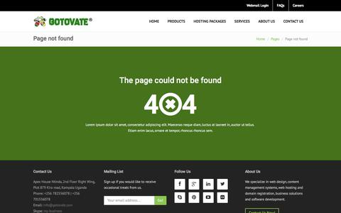 Screenshot of Team Page gotovate.com - Out Team: Gotovate - captured May 21, 2017