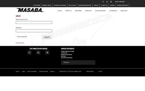 Screenshot of Login Page masabainc.com - Log In - Masaba - captured Sept. 20, 2018