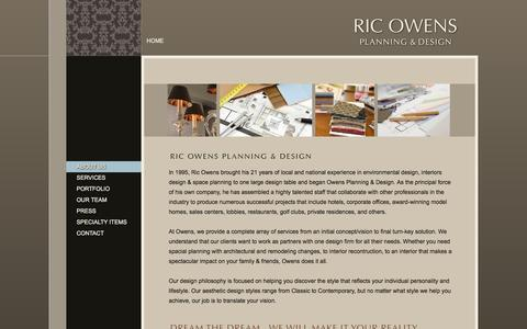 Screenshot of About Page ricowens.com - About Us - Ric Owens - Planning and Design - captured Oct. 1, 2014