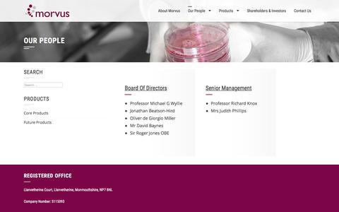 Screenshot of Team Page morvus.com - Our People – Morvus - captured Oct. 21, 2017