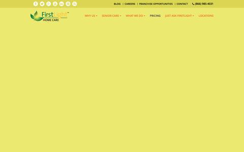 Screenshot of Pricing Page firstlighthomecare.com - Home Care Assistance: Senior Care | FirstLight Home Care - captured Nov. 3, 2016