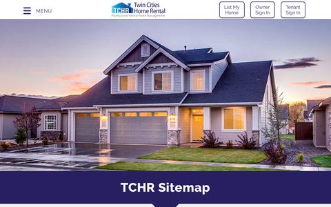 Screenshot of Site Map Page twincitieshomerental.com - Sitemap| Twin Cities Home Rental - captured Sept. 21, 2018