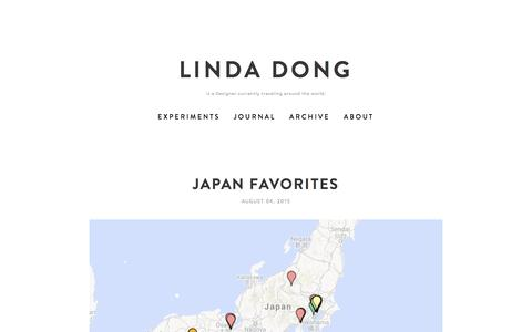 Screenshot of Maps & Directions Page lindadong.com - Linda Dong - captured March 1, 2016
