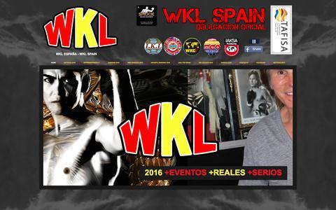 Screenshot of Home Page spainwkl.com - WKL SPAIN - WKL ESPAÑA - captured June 13, 2016