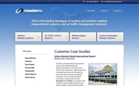 Screenshot of Case Studies Page allweatherinc.com - Case Studies - All Weather Inc - captured Sept. 30, 2014