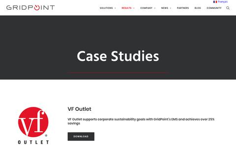 Screenshot of Case Studies Page gridpoint.com - Case Studies - GridPoint - captured July 14, 2018