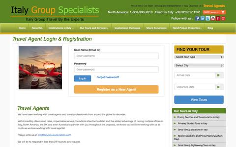 Screenshot of Login Page italygroupspecialists.com - Italy Group Specialists - captured Jan. 9, 2016
