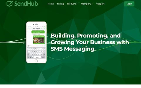 Screenshot of About Page sendhub.com - Premier Business SMS Text Marketing Platform and Solution | SendHub - captured Jan. 13, 2019