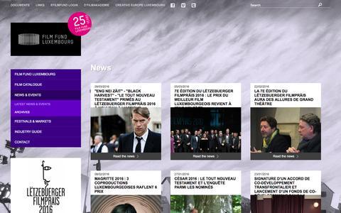 Screenshot of Press Page filmfund.lu - News / Latest News & Events / News & Events / Laptop - Film Fund Luxembourg - captured March 10, 2016
