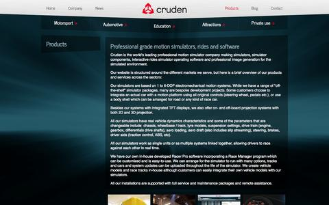 Screenshot of Products Page cruden.com - Cruden - captured Oct. 3, 2014