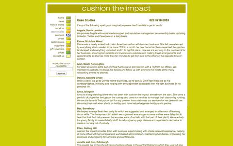 Screenshot of Case Studies Page cushiontheimpact.co.uk - cushion the impact: Lifestyle Management and Concierge: Case Studies - captured Sept. 30, 2014