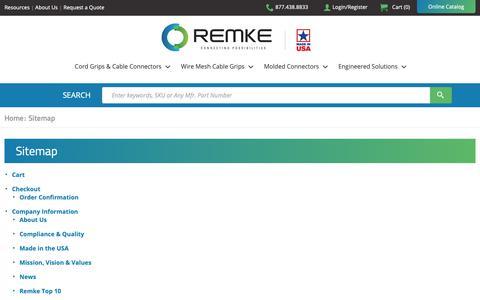 Screenshot of Site Map Page remke.com - Sitemap | Remke - captured Oct. 18, 2018