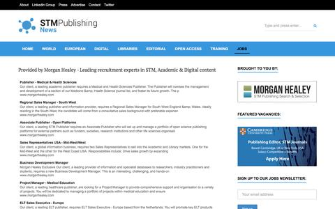Screenshot of Jobs Page stm-publishing.com - STM Publishing Jobs   STM Publishing News - captured Nov. 18, 2016