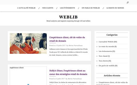 Weblib – Retail analytics and targeted couponing through wifi and tablets