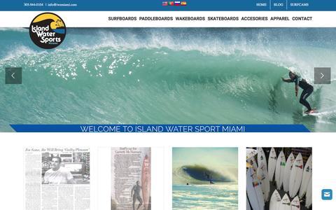 Screenshot of Press Page iwsmiami.com - Blog - Island Water Sports Miami - captured Nov. 26, 2016