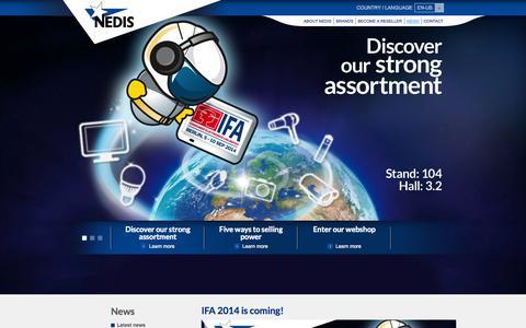 Screenshot of Press Page nedis.com - NEDIS | Wholesaler & Distributor of Consumer Electronics & Accessories - captured Sept. 19, 2014