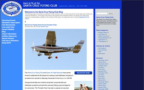 Screenshot of Blog scfc.org - Blog «  Santa Cruz Flying Club - captured Oct. 3, 2014