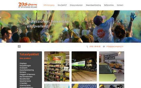 Screenshot of Home Page dpscompany.nl - DPS Company - DPS Company - captured July 31, 2016