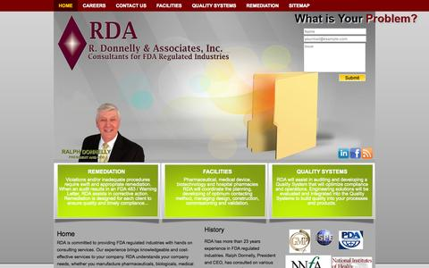 Screenshot of Home Page rda-group.net - RDA-Group | R. Donnelly & Associates, Inc. - captured Oct. 6, 2014