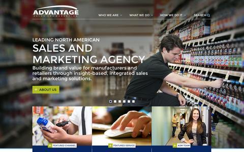 Screenshot of Home Page asmnet.com - Advantage Sales & Marketing - captured Sept. 25, 2014