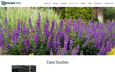 Screenshot of Case Studies Page greenscapeinc.com captured Oct. 14, 2017