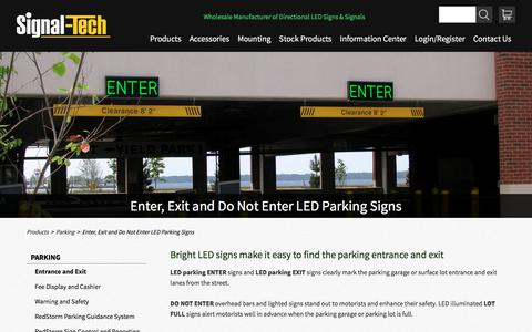 LED Parking Enter Signs | LED Enter Exit Signs | Lit Parking Garage Do Not Enter Signs | LED Lot Full Signs | Signal-Tech