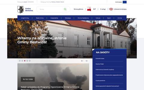 Screenshot of Home Page bestwina.pl - ..:: bestwina.pl - Oficjalny serwis Gminy Bestwina ::.. - captured March 2, 2018
