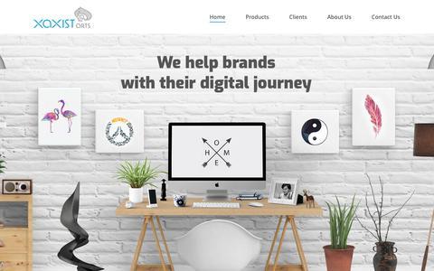 Screenshot of Home Page xaxistarts.com - Xaxist Arts – Digital Agency - captured July 26, 2018
