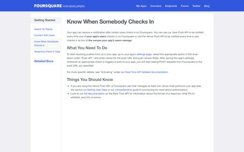 Push APIs | Foursquare for Developers