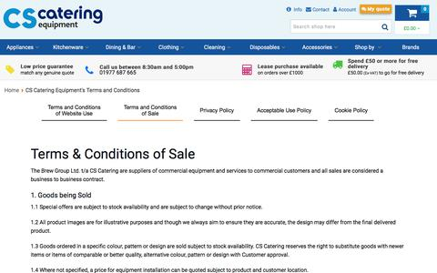 Screenshot of Terms Page cs-catering-equipment.co.uk - CS Catering Equipment's Terms and Conditions - captured July 14, 2018