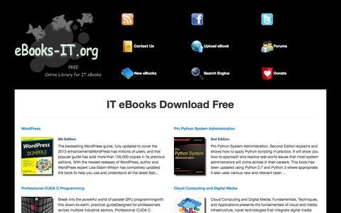Screenshot of Home Page ebooks-it.org - IT eBooks Download Free | eBooks-IT.org - captured Jan. 25, 2015