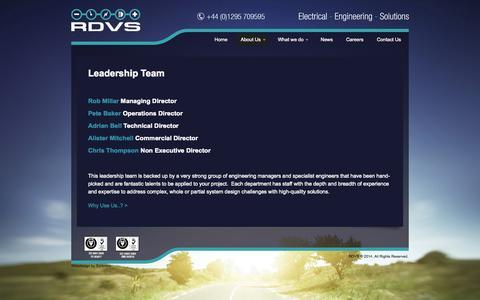 Screenshot of Team Page rdvs.co.uk - RDVS  |  Leadership Team - captured Oct. 27, 2014