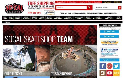 Screenshot of Team Page socalskateshop.com - Socalskateshopteam - captured Sept. 22, 2018
