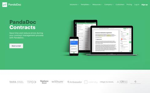 Contract Management Software - PandaDoc Contracts